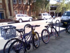 Bikes at city campus