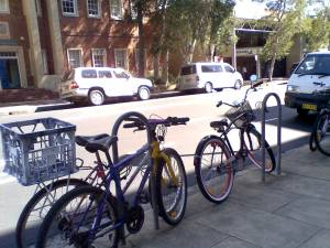 Bikes at city campus