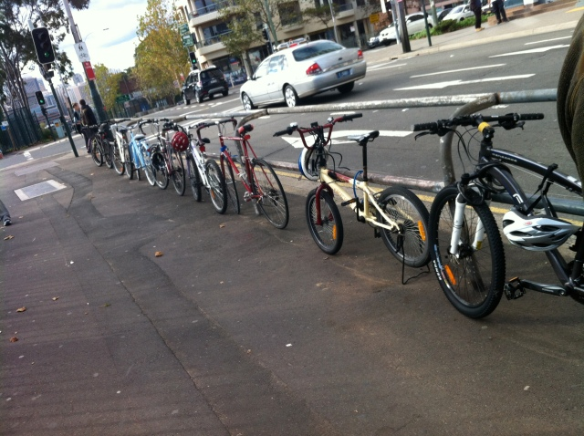 Bikes at Redfern Station