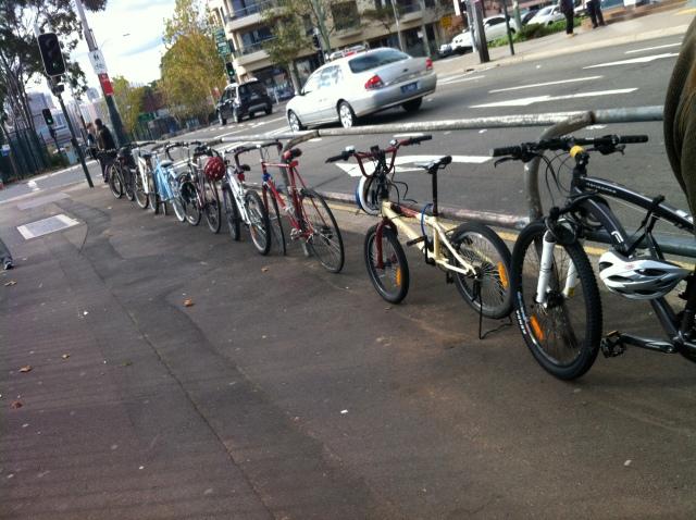 Bikes at Redfern Station