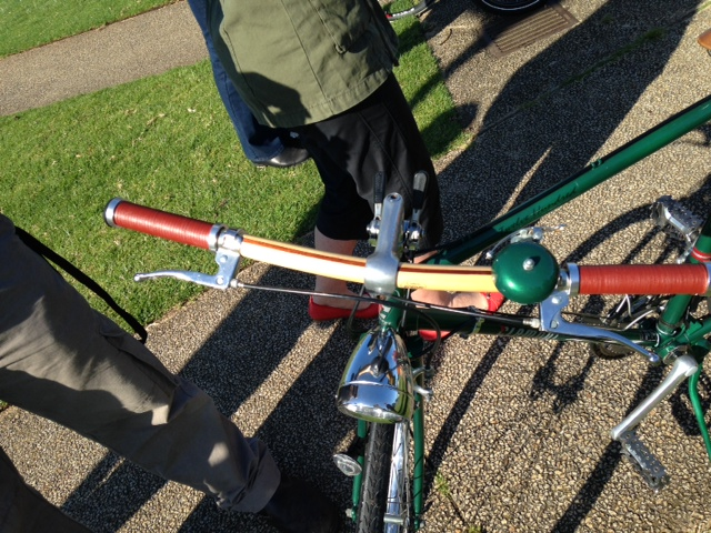 Bob's home made handlebars. Full photo of his bike at the top of the post.